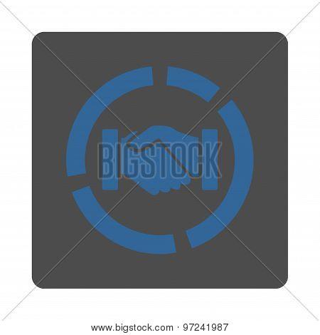 Acquisition diagram icon