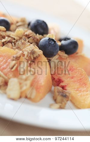 Healthy fruit snack with granola