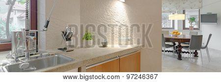 Modern Sink In The Kitchen