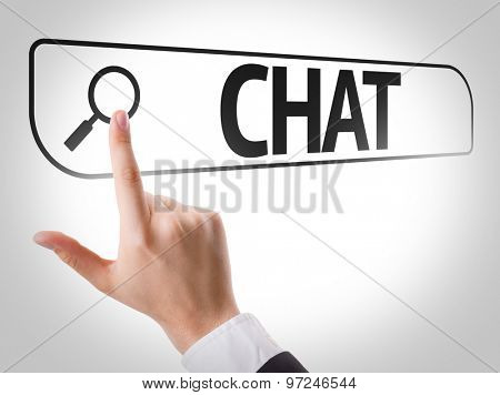 Chat written in search bar on virtual screen