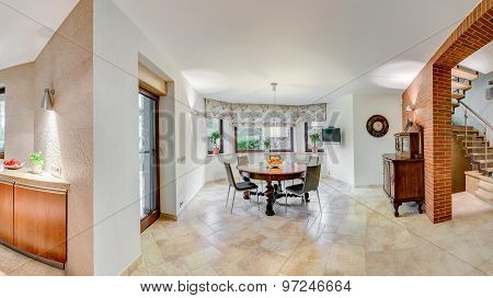 White Walls In Dining Room