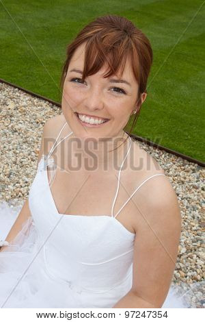 Closeup Portrait Of Beautiful Bride - Soft Focus
