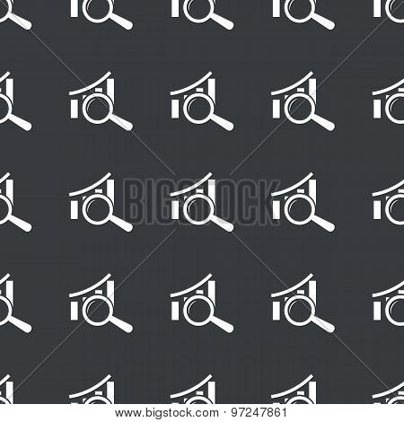 Straight black graphic examination pattern