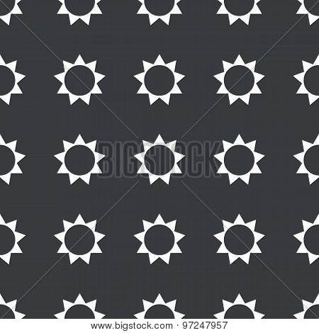 Straight black sun pattern