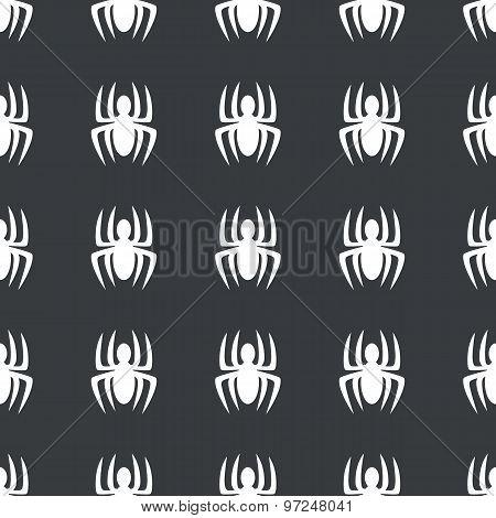 Straight black spider pattern