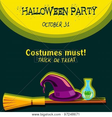 Invitation Card For Halloween Party