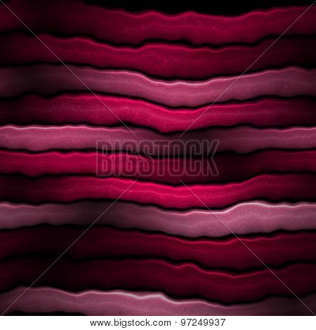 Abstract Wavy Stripes Background In Red