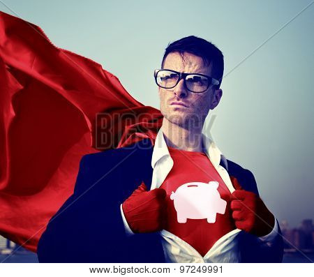 Strong Superhero Success Professional Empowerment Stock Concept