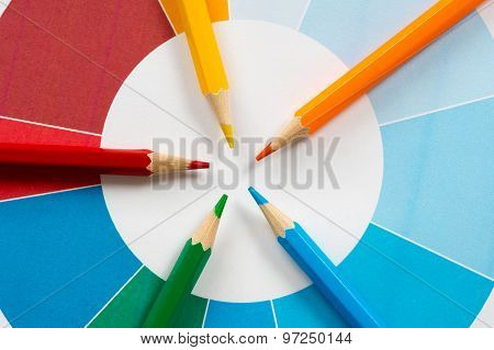 Colorful Pencils With Pie Chart 3