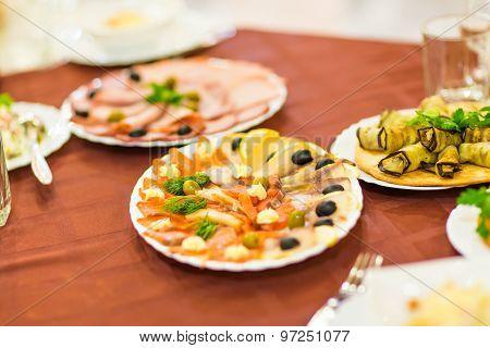 Salmon seshimi . traditional japanese food