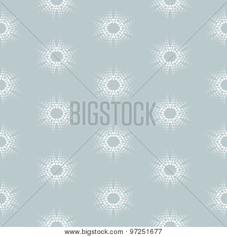 Seamless Pattern With Dotted Floral Ornament