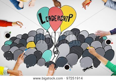 Leadership Lead Management Responsibility Vision Concept