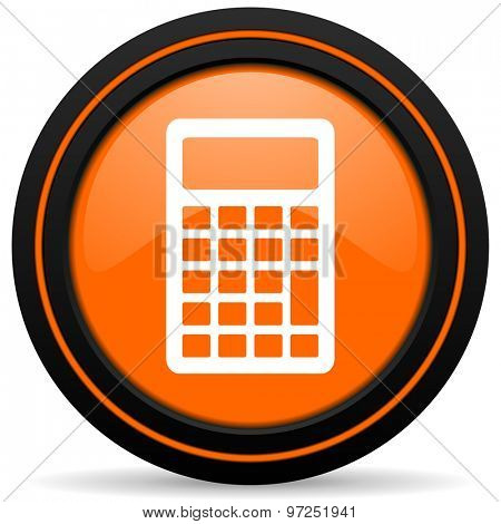 calculator orange icon