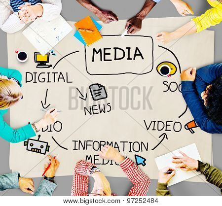 Digital Media Information Medium News Concept