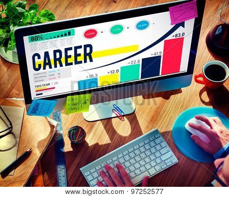 Career Employment Data Analysis Recruitment Concept