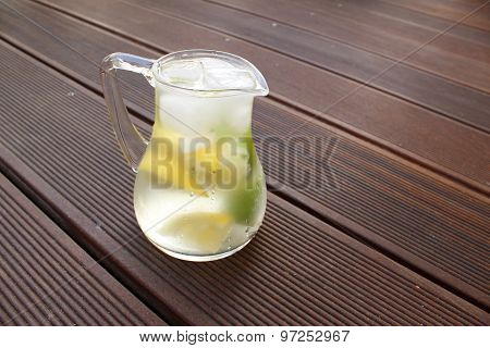 refreshing lemonade ice frosted glass in your jar