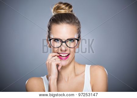 Attractive woman smiling