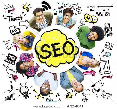 Search Engine Optimization Business Strategy Marketing Concept