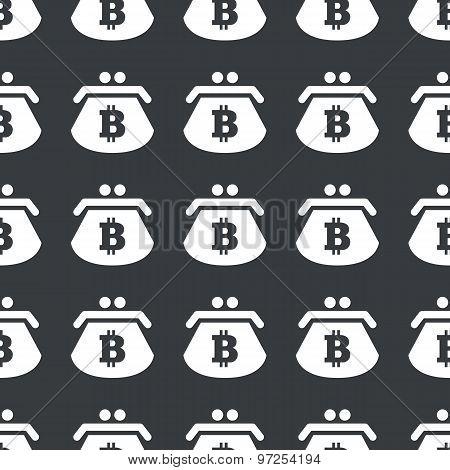 Straight black bitcoin purse pattern