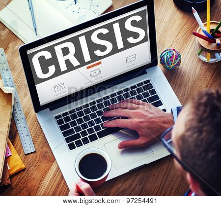 Economics Financial Crisis Risk Strategy Concept