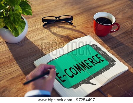 E-commerce Digital Marketing Networking Concept