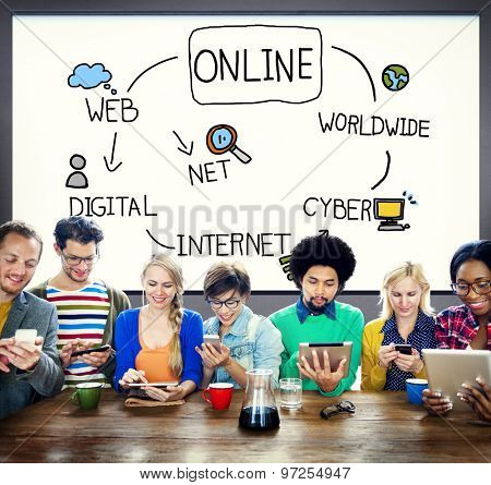 Online Internet Social Networking Concept