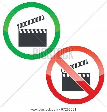 Capture permission signs set