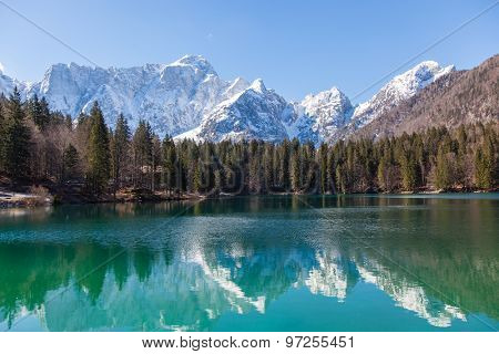 Alpine lake in Slovenian Alps