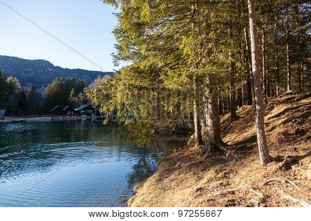 Lake in Preddvor, small town in northern Slovenia