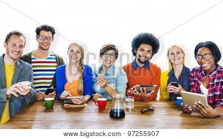 Diversity Casual Team Meeting Brainstorming Cheerful Concept