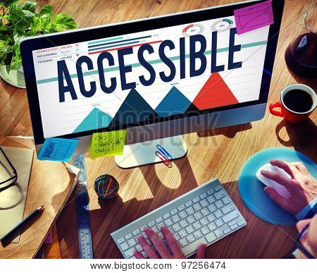 Accessible Usable Possible Available Free Concept