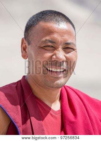 Tibetan Buddhist Monk In Ladakh. India