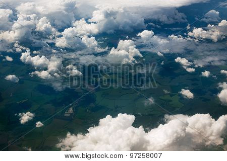 Land And Sky Clouds Background