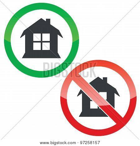House permission signs set