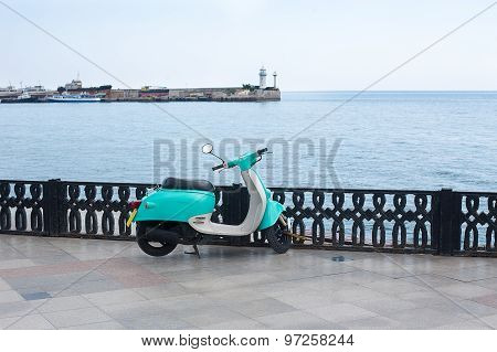 Scooter On Waterfront