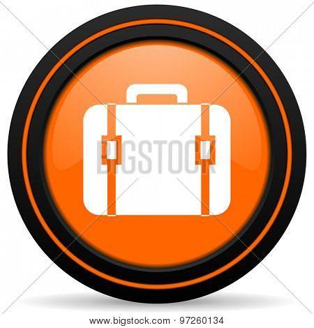 bag orange icon luggage sign