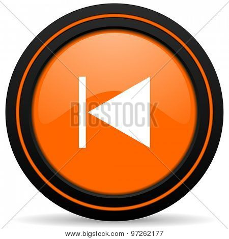 previous orange icon