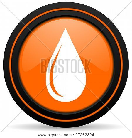 water drop orange icon