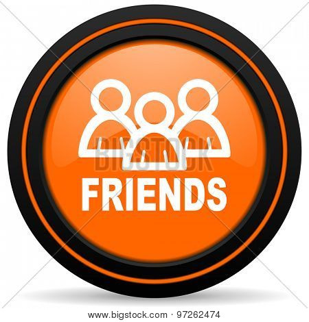 friends orange icon