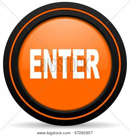 enter orange icon