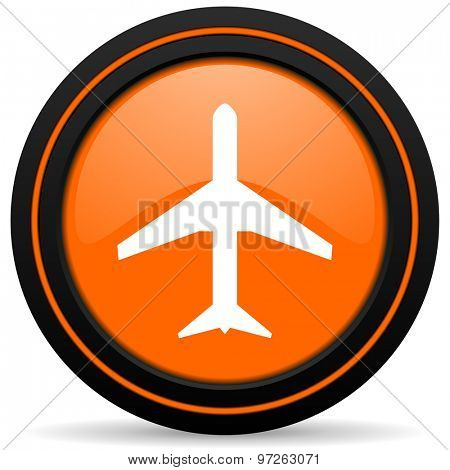 plane orange icon airport sign