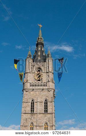 Tower Of The Belfry Of Ghent, Belgium