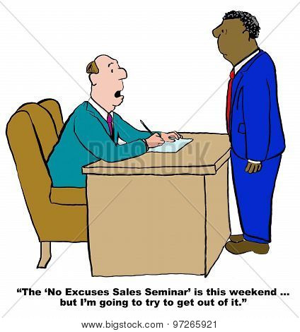No Excuses Sales Seminar