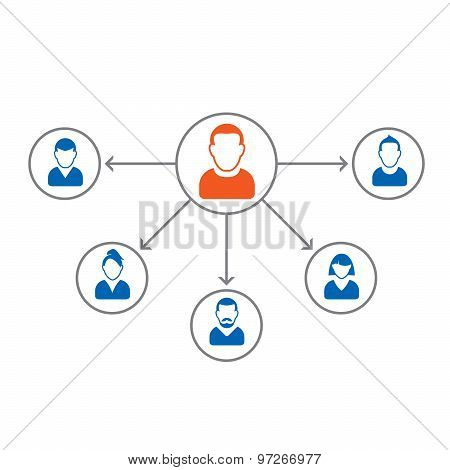Set Of People Icons. Corporation Team. Vector Avatar Illustration
