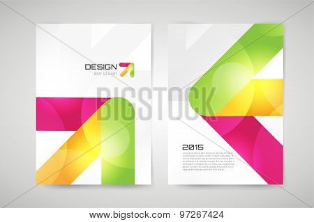 Vector brochure template. Abstract arrow design and creative magazine idea, blank, book cover or ban