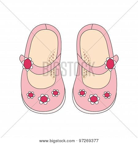 Pink Shoes For Little Girls