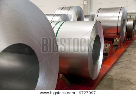 Huge Rolls Of Tinplate