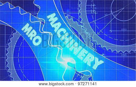 Machinery MRO on Blueprint of Cogs.