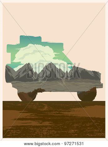 Car Travel Vector Illustration