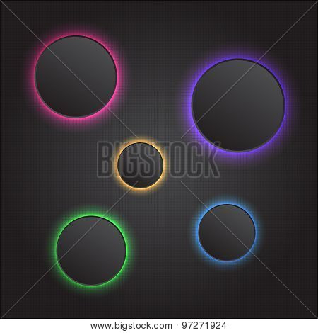 Modern vector abstract light glowing button